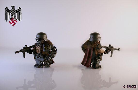 Weird War II Nazi Super Soldier Custom Minifigure
