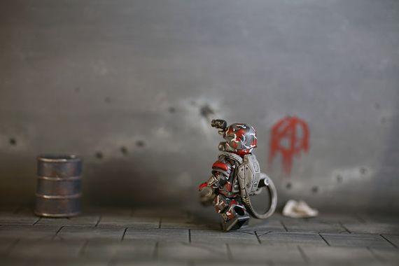 Future Gunner Custom Minifigure Back