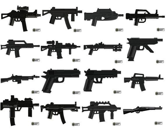 CombatBrick Wave 8 Weapons