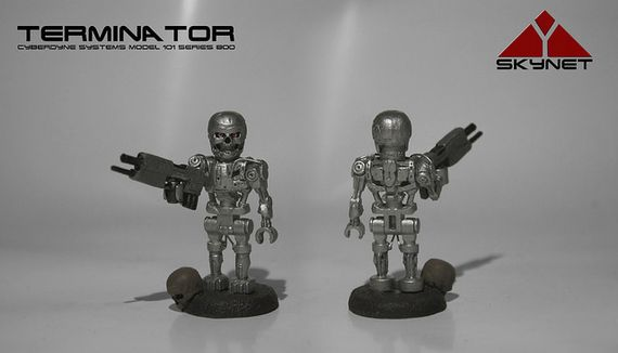 Terminator T-800 Endoskeleton Custom Minifigure