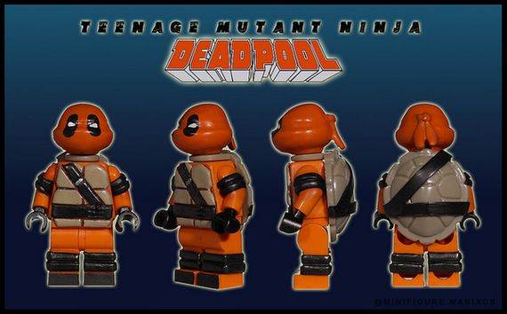 Teenage Mutant Ninja Deadpool Custom Minifigure
