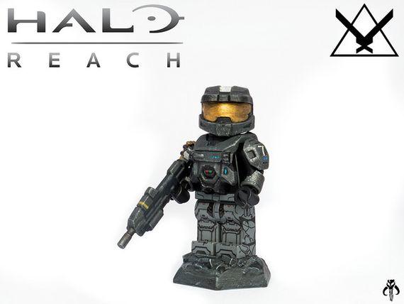 Halo Reach Noble Six Custom Minifigure