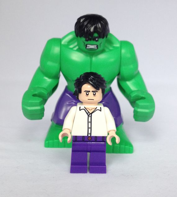 Classic Bruce Banner & Hulk Minifigures