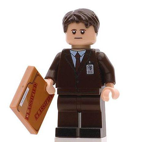 Agent Sculder Custom Minifigure