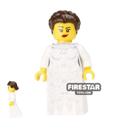 Wedding Bride Custom Minifigure