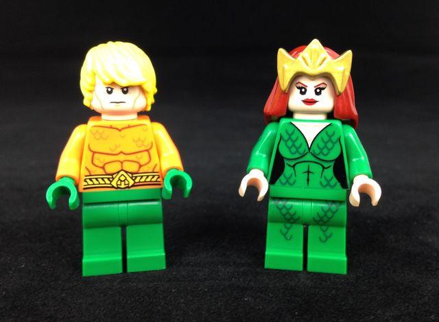 Mera Custom Minifigure & LEGO Aquaman Minifigure