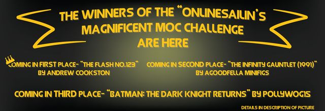 Onlinesailin's Comic Book MOC Competition Results