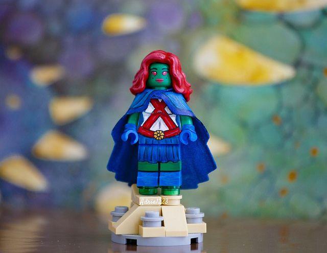 Miss Martian Painted Custom Minifigure