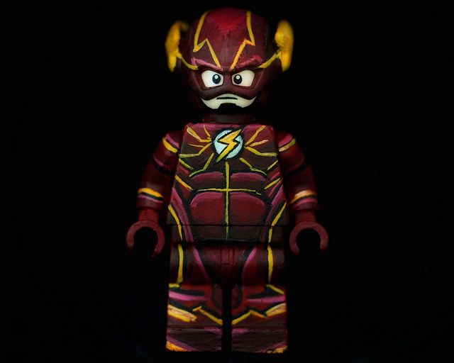 The Flash Barry Allen Painted Custom Minifigure