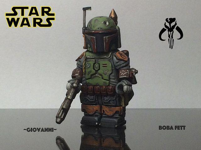 Boba Fett Painted Custom Minifigure