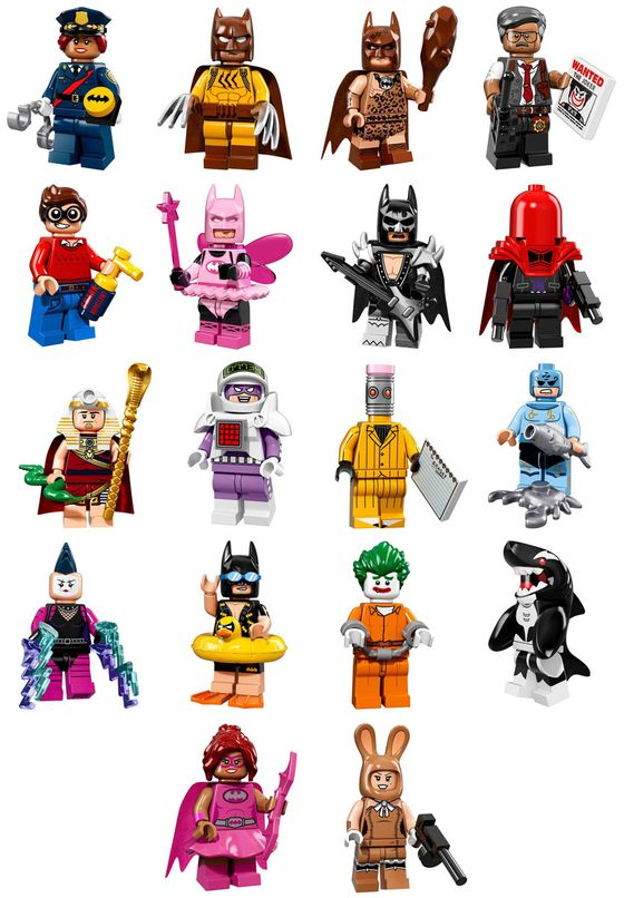 LEGO Batman Movie Minifigure Series Characters