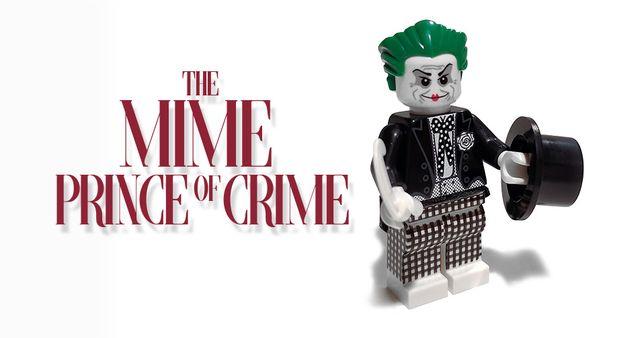 The Mime Prince Of Crime Custom Minifigure