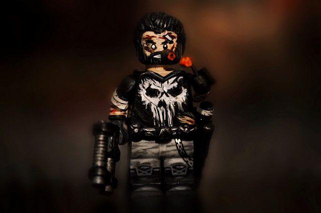 The Punisher Painted Custom Minifigure