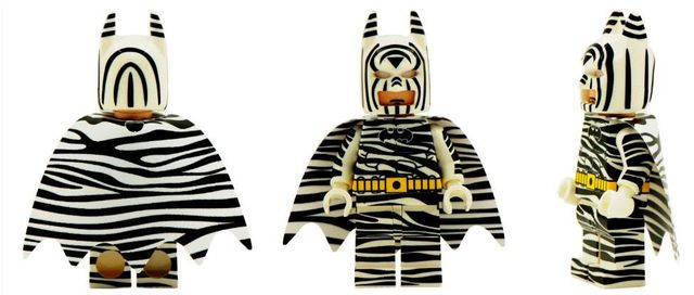 Zebra Batman Custom Minifigure