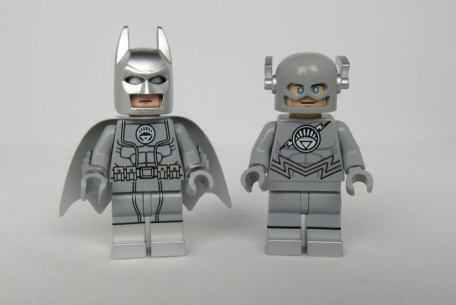 White Lantern Batman and Flash Custom Minifigures