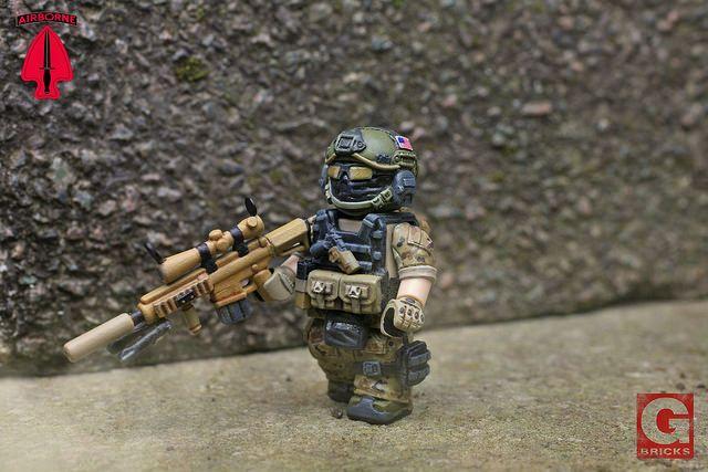 SFOD-D Marksman Custom Minifigure