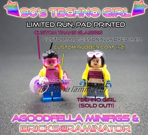 90s Techno Girl Custom Minifigure