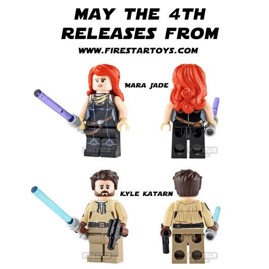 Mara Jade & Kyle Katan Custom Minifigures