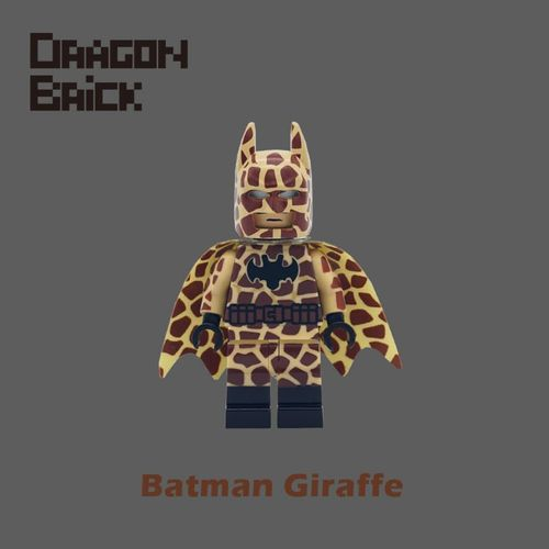 Dragon Brick Batman Giraffe Custom Minifigure
