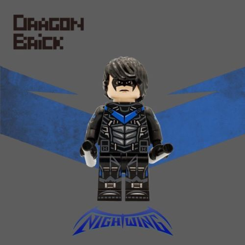 Dragon Brick Nightwing Custom Minifigure