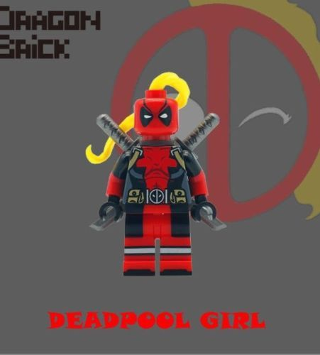 Deadpool Girl Dragon Brick Custom Minifigure