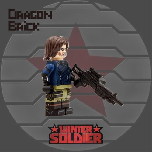 Dragon Brick Infinity Winter Soldier Custom Minifigure