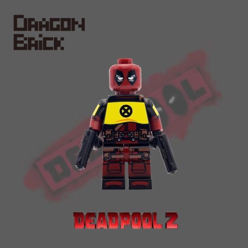 Dragon Brick X-Force Deadpool Custom Minifigure