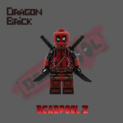 Dragon Brick HK Backpack Deadpool Custom Minifigure