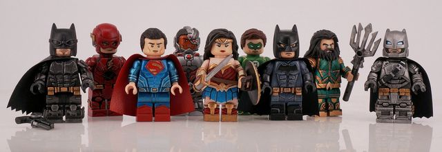 Justice League Painted Custom Minifigures