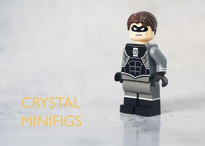 Crystal Black Lantern Hal Jordan Custom Minifigure