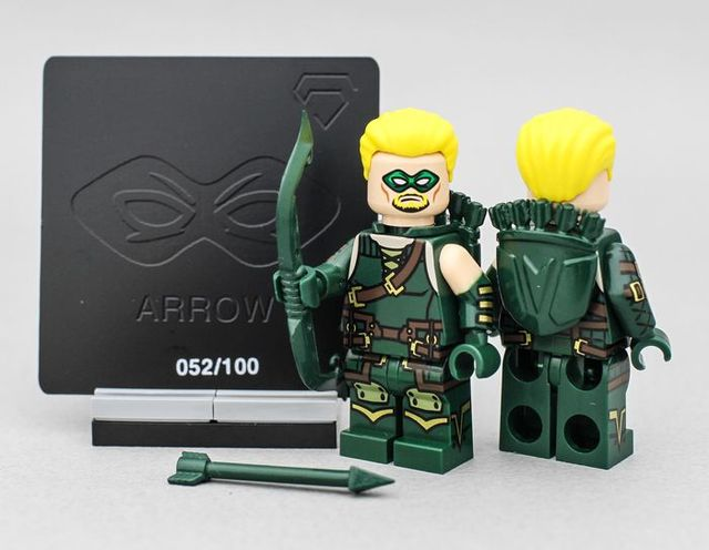 Crystal Minifigs Green Arrow Custom Minifigure