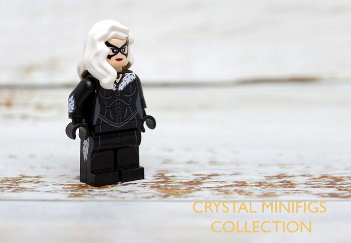 Crystal Minifigs Black Cat Custom Minifigure