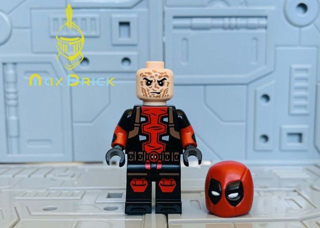 MaxBrick Deadpool Custom Minifigure