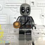 MaxBrick Grey Deadpool Custom Minifigure