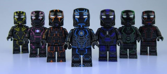 ⎡UG MINIFIGURE ⎦Custom Tron Iron Man Lego Minifigure