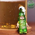 LeYiLeBrick Beer Suit Guy Custom Minifigure