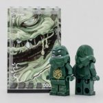 Outside Brick Hydra Clay Face Custom Minifigure